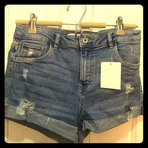 NWT distressed high wait cut off jean shorts